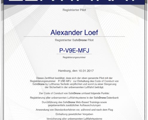 Zertifikat Alexander Loef