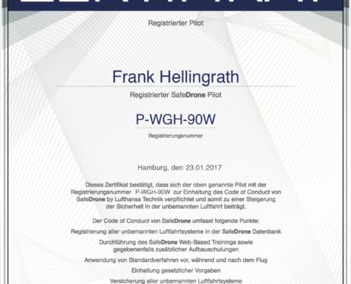 Zertifikat Frank Hellingrath