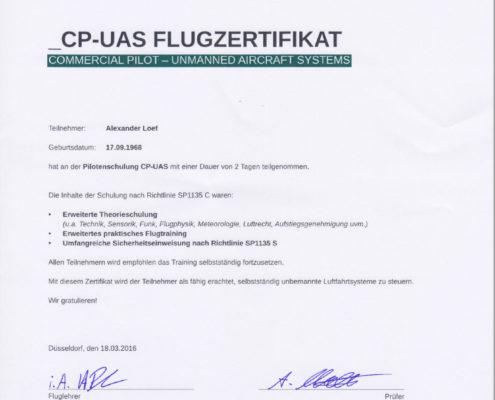UAS Flugzertifikat